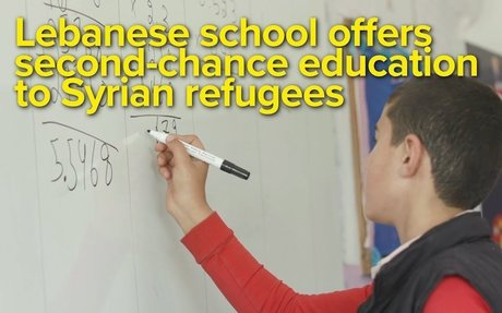 Lebanese school offers second-chance education to Syrian refugees