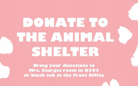 Environmental Science Animal Shelter Donations
