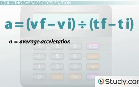 What is Acceleration? - Definition and Formula - Video & Lesson Transcript | Study.com