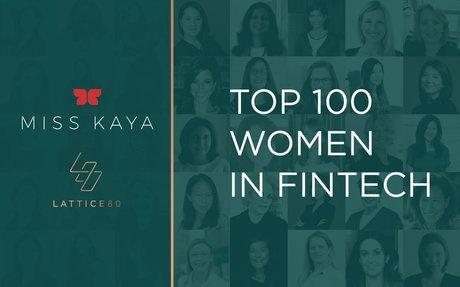 Top 100 Women in Fintech - LATTICE80