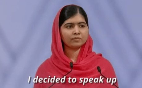 I Decided To Speak Up Malala Yousafzai GIF by Women's History Month  - Find & Share on GIP