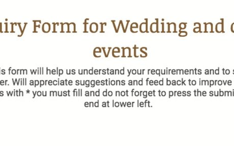 Wedding Inquiry Form