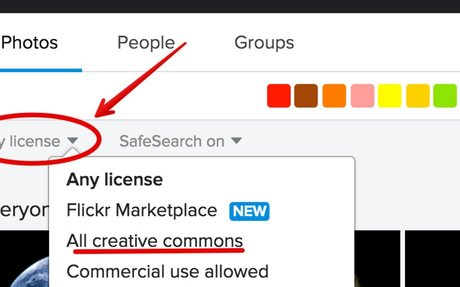 A Step by Step Guide on How to Find Flickr  CC Licensed Images to Use in Class