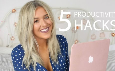 TOP 5 PRODUCTIVITY/LIFE HACKS, HOW TO BE MORE PRODUCTIVE, MOTIVATION HACKS | Em Sheldon AD