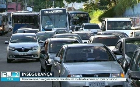RJ2 | Conheça as regiões onde houve aumento no número de roubo de veículos | Globo Play