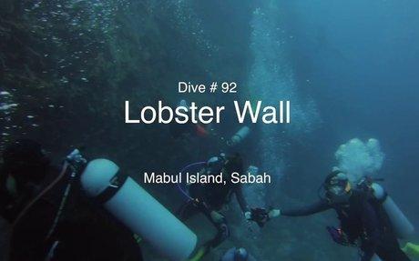 Dive # 92 : Lobster Wall - Mabul Island, Sabah