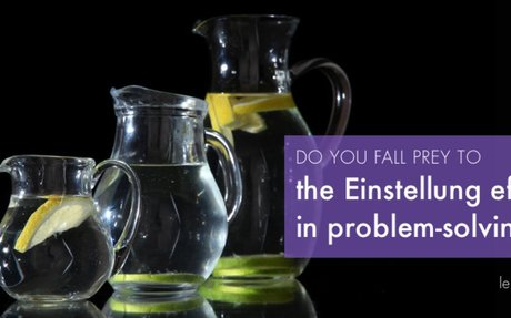 The Einstellung effect and problem solving in conflict resolution