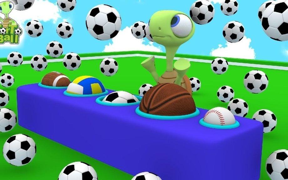 LEARN BALLS -Turtles Rain Soccer Ball and Football For Children and Kids | Torto Ball