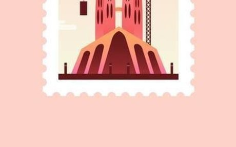 Colorful Animated Stamps of Cities