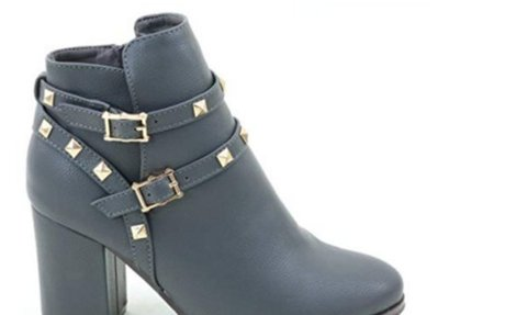 Amazon.com | Brieten Women's Buckles Chunky Heel Ankle Boots | Boots