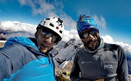 """Karl Egloff e Nico Miranda aprono """"Variante Ecuador"""" sulla parete Sud dell'Aconcagua, i..."""