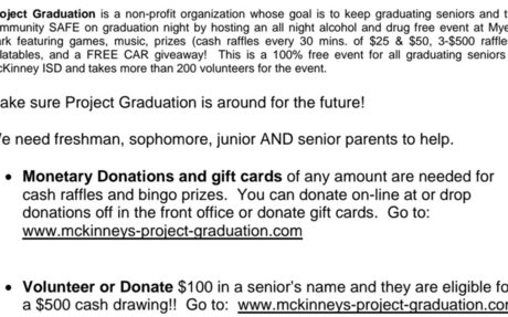 Project Graduation e-Newsletter
