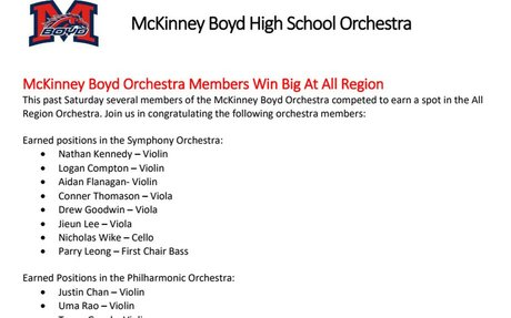 Orchestra All Region 2017 Results