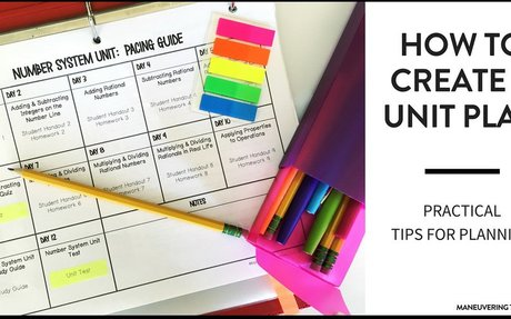 How to Create a Unit Plan