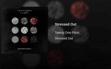 Stressed Out- Twenty One Pilots