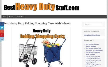 Best Heavy Duty Folding Shopping Carts with Wheels