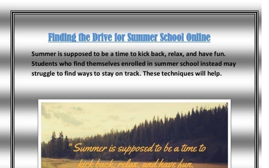 Best Summer school online