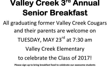 Valley Creek 3rd Annual Senior Breakfast