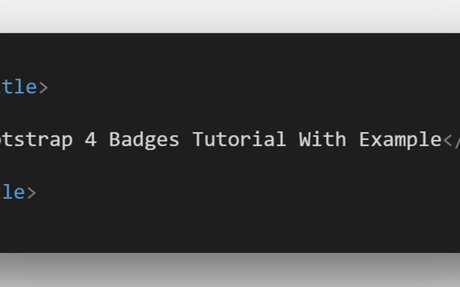 Bootstrap 4 Badges Tutorial With Example