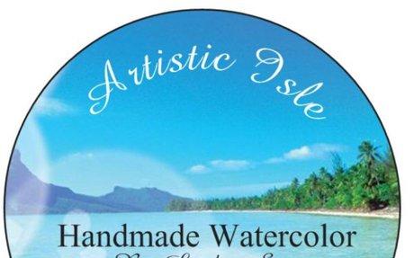 15% off Artistic Isle Handmade Watercolours