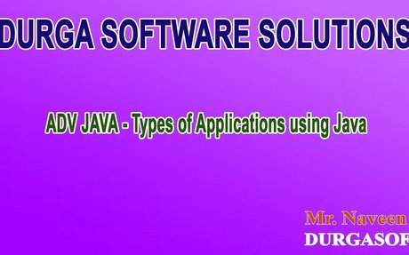 ADV Java Types of Applications using Java