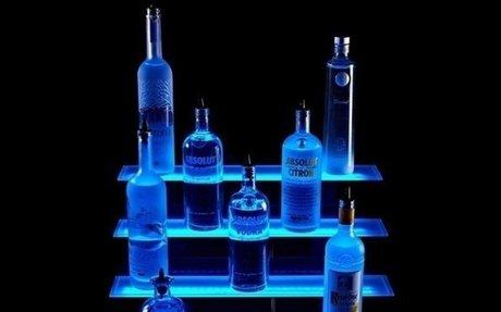 Best Lighted Liquor Bottle Shelves for The Home Bar ~ Lab38 | For Home