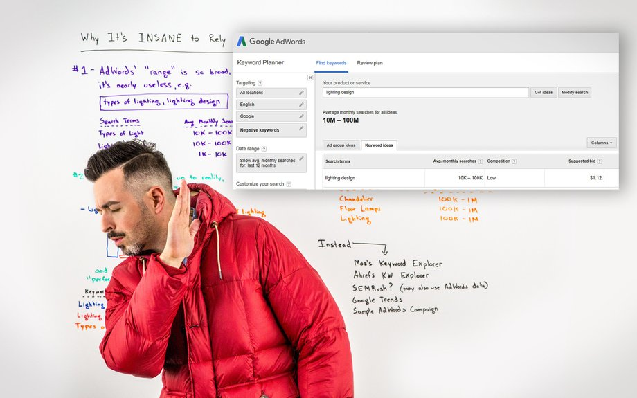Why Google AdWords' Keyword Volume Numbers Are Wildly Unreliable - Whiteboard Friday