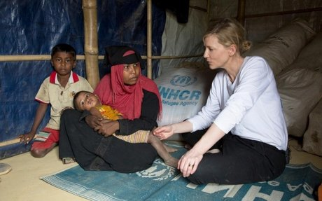 """UNHCR Goodwill Ambassador Cate Blanchett warns of a """"race against time"""" to protect Rohingy"""