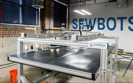A new t-shirt sewing robot can make as many shirts per hour as 17 factory workers