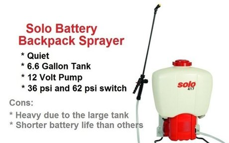 Solo 417 Battery Powered Backpack Sprayer -