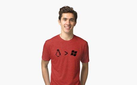 'Linux/windows' Tri-blend T-Shirt by thatkidval