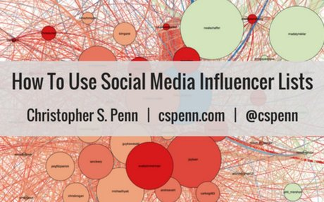 How To Use Social Media Influencer Lists - Christopher S. Penn Marketing Blog