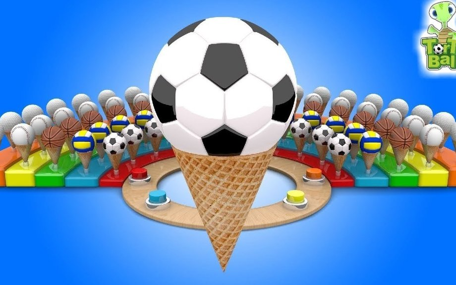 LEARN BALLS With Ice Cream Soccer Ball Basketball volleyball for Children and Kids | Torto