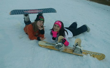 I like to snowboard with my couins