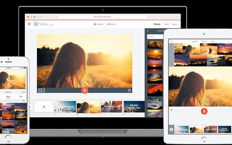 Spark -  easy to use app from Adobe, create images, videos, and presentations