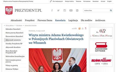 Oficjalna strona Prezydenta Rzeczypospolitej Polskiej / Kancelaria / Aktywność ministrów /