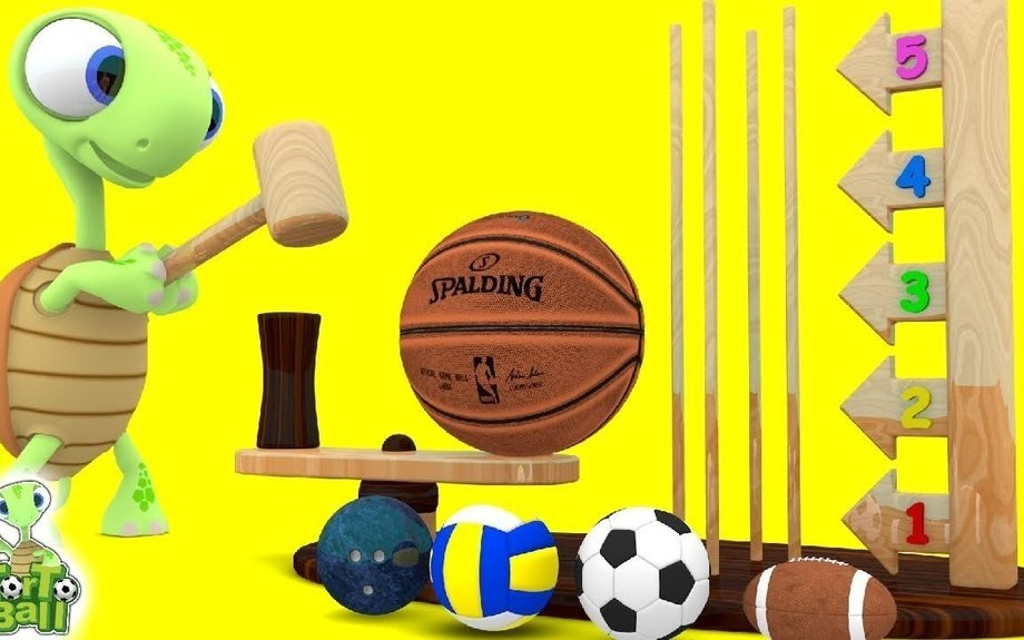 LEARN BALLS Turtle With Teeter Totter Sport Ball Basketball For Children and Kids | Torto