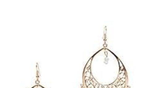 White Metallic Beaded Tassel Earrings