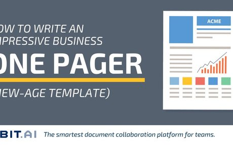 How to Write an Impressive Business One Pager (New-Age Template)