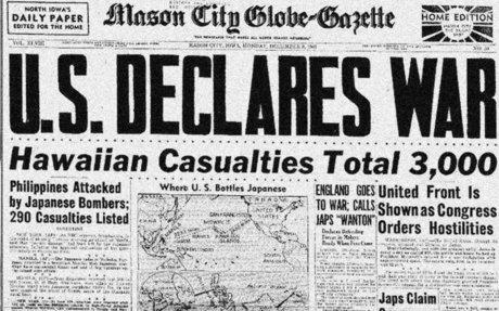 #3 United States Declaration of War upon Japan