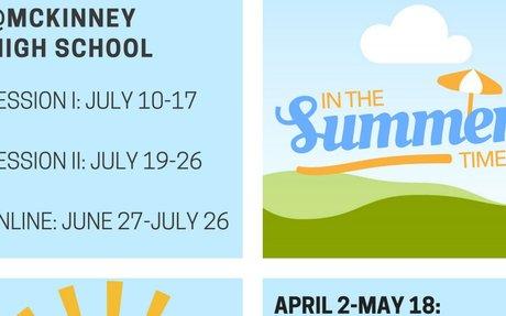 Flyer Summer McKinney ISD 2018