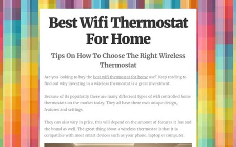 Best Home Thermostat With Wifi