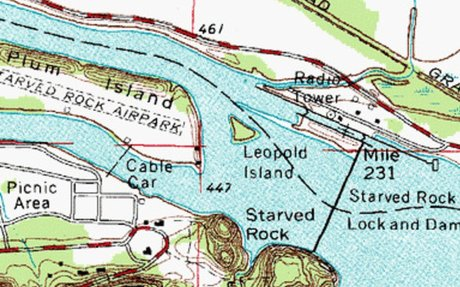 starved rock state park map