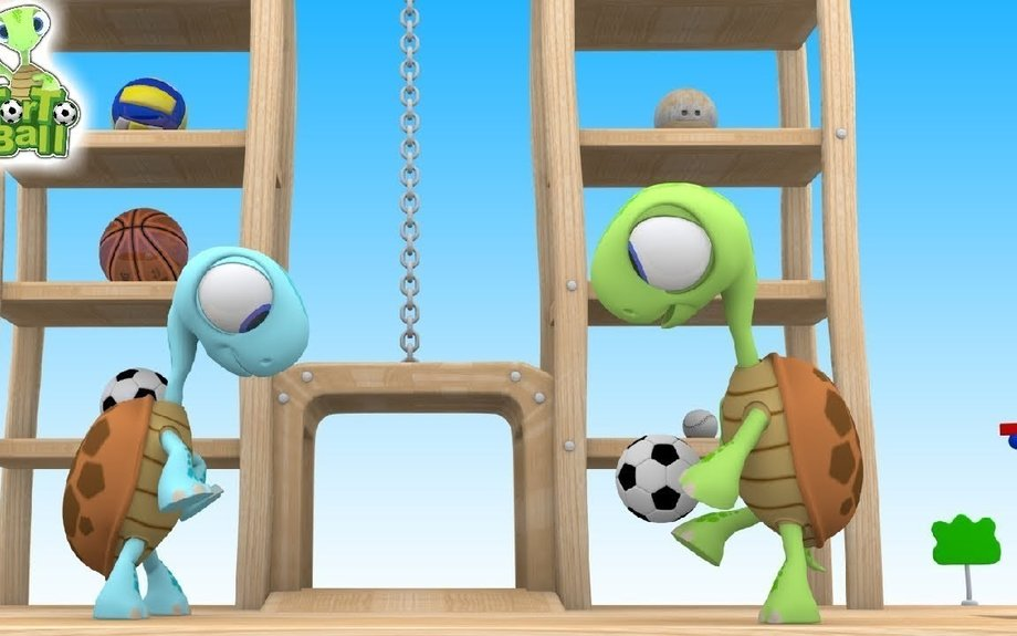 LEARN BALLS With Action of Player by Cute Turtles For Children and Kids | Torto Ball