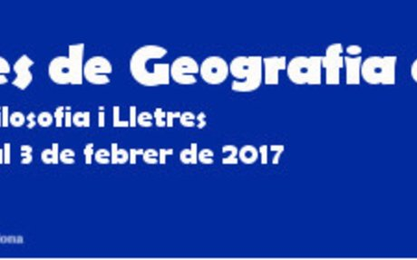 30 gener a 3 Febrer - Jornades de Geografia en Acció - ICE - UAB