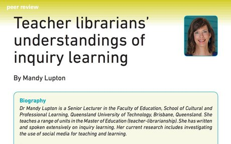 Teacher librarians' understandings of inquiry learning