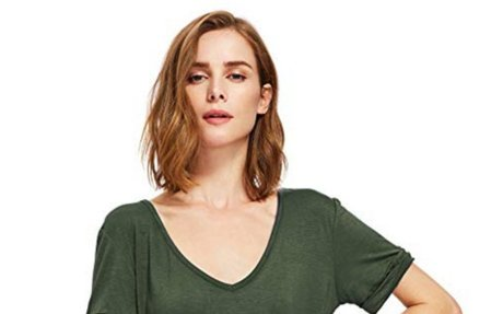 SheIn Women's Summer Short Sleeve Loose Casual Tee T-Shirt at Amazon Women's Clothing stor