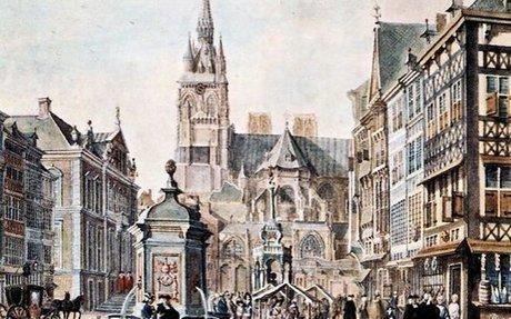 La démolition de la Cathédrale Saint-Lambert à Liège