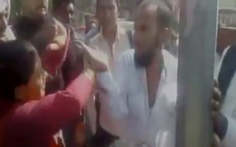 Watch: Woman thrashes alleged eve-teaser in Baghpat, Uttar Pradesh