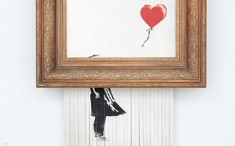 The Anarchy, Piety and Celebrity of Banksy's Auto-Destructive Prank